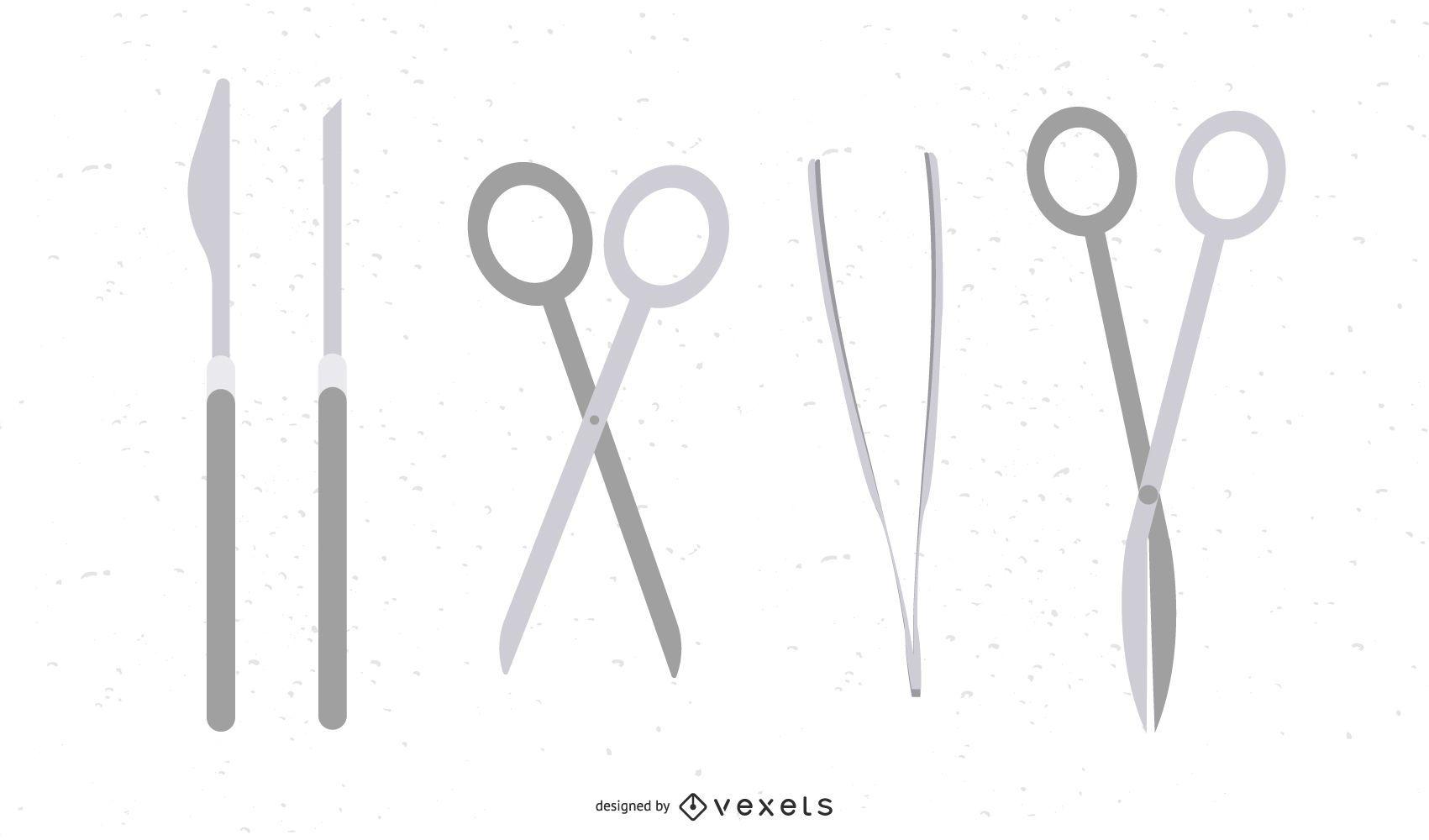Vector de herramientas de cirugía