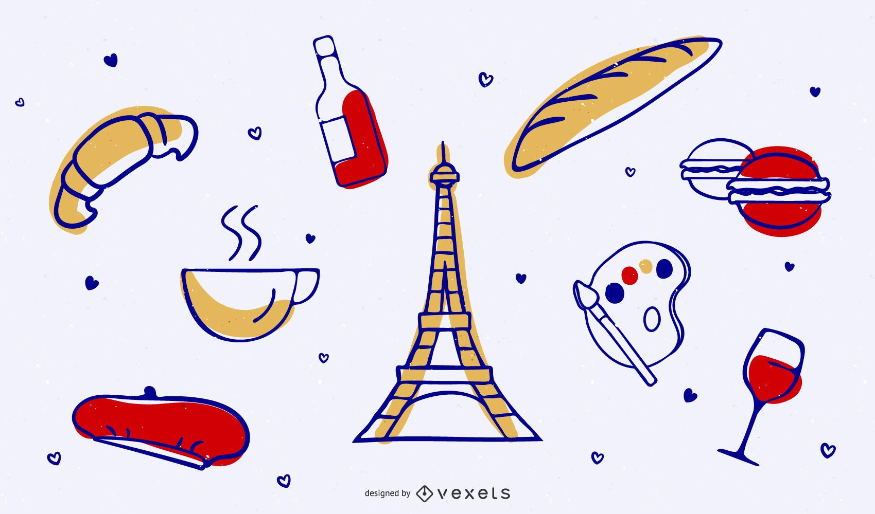 Everything Free Paris Vector Graphics