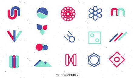 Logo Dekoration Elemente Pack
