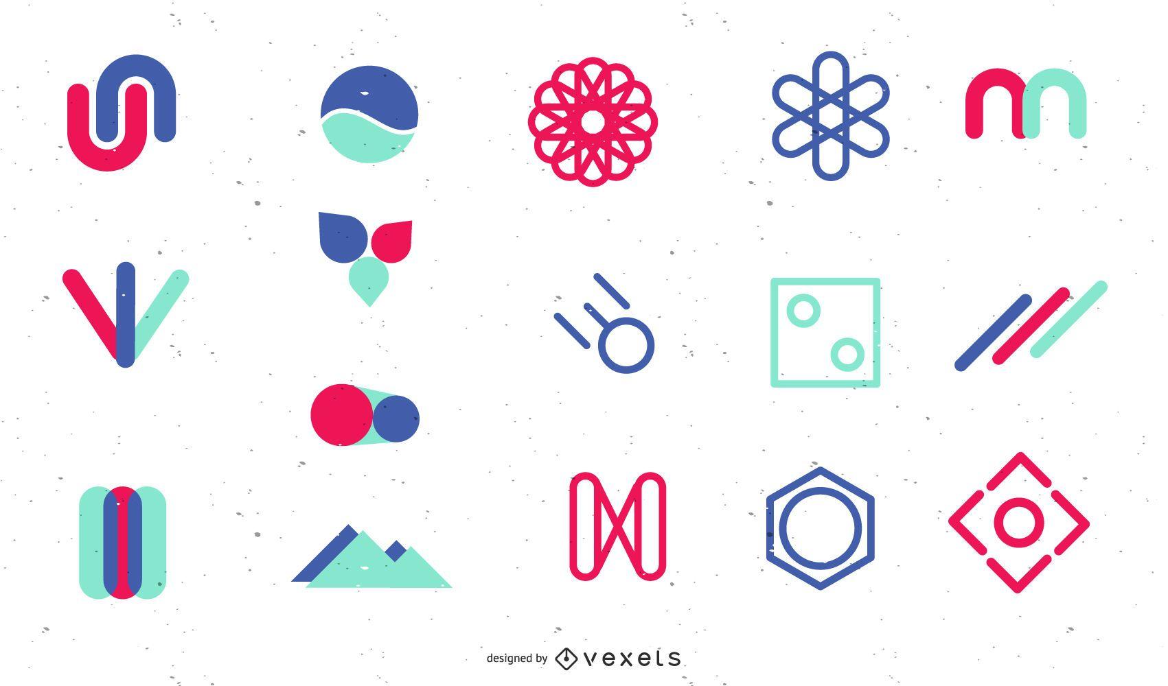 Paquete de elementos de decoración de logotipo