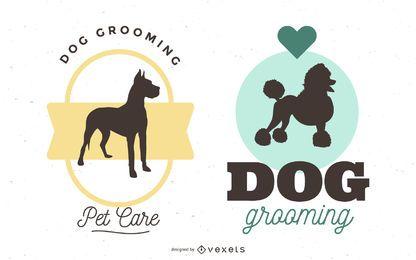 Banner de perro o imagen de logo en vector