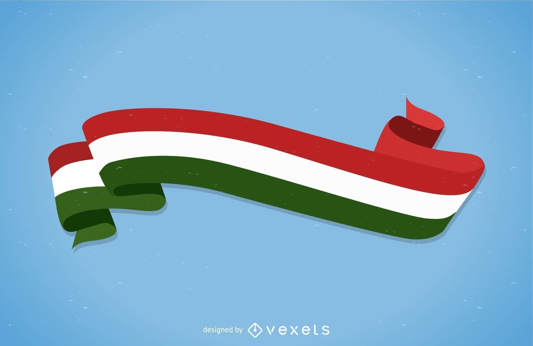 Italian Flag: Free Italian Flag Banner Vector