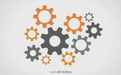 Vector libre engranajes gráfico