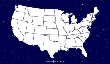 Mapa de vetor livre da América
