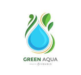 Vector de logotipo verde aqua