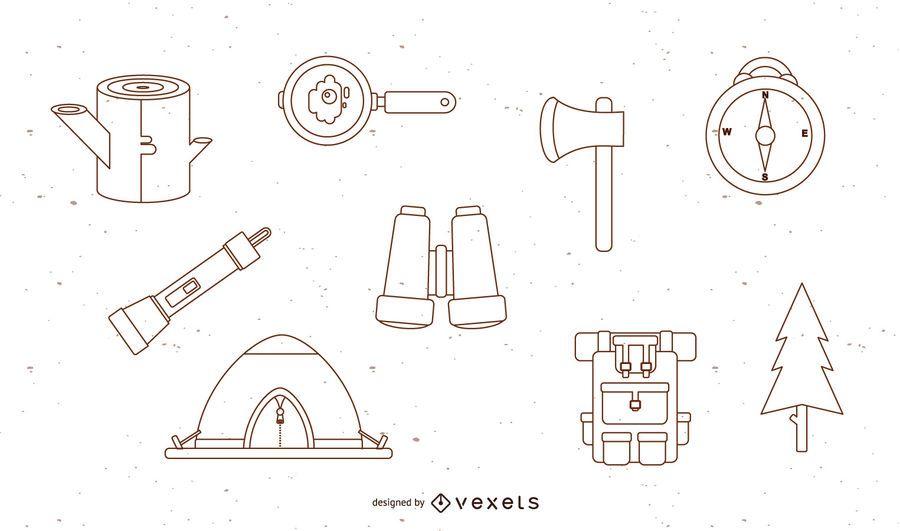 Free Vector Camping Set