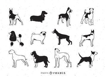 Perros de vectores gratis