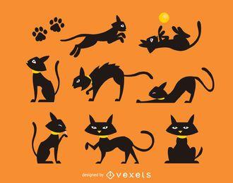 Gatos vectoriales gratis