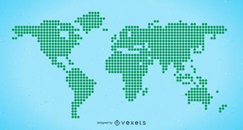 Halbton-Weltkarte-freier Vektor