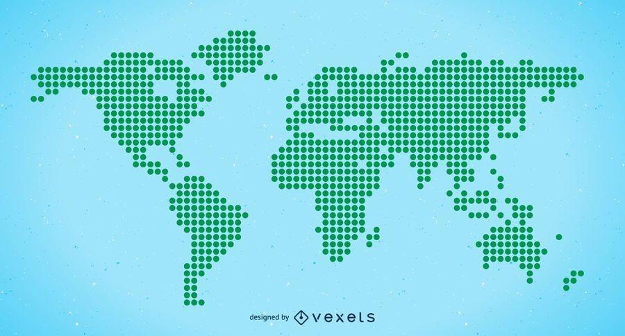 Mapa del mundo de semitono vector libre