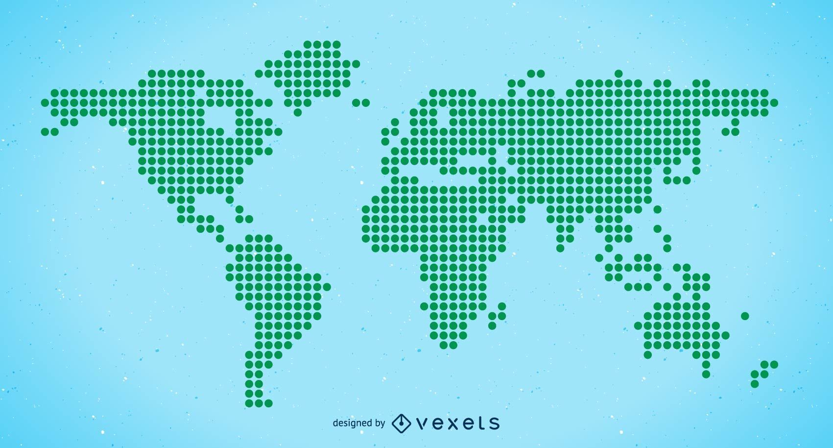 Halftone world map free vector vector download halftone world map free vector download large image 1701x914px license image user gumiabroncs Image collections