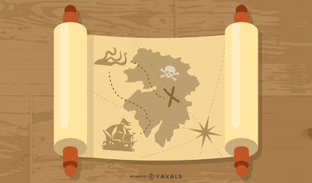 Free Ancient Mythology Map Vector