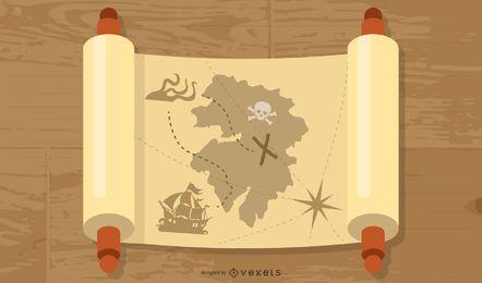 Vetor de mapa de mitologia antiga grátis