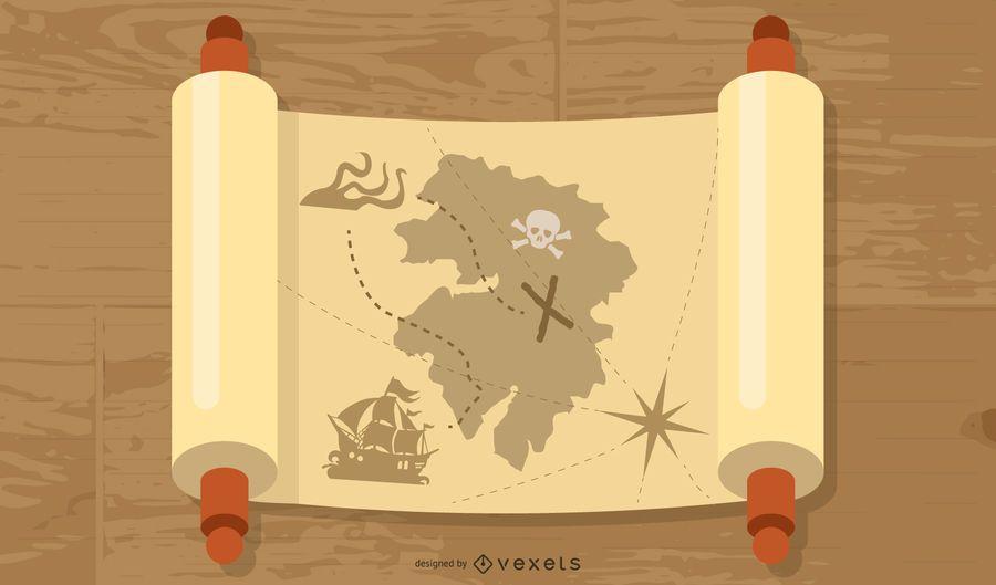 Mapa del vector de mitología antigua gratis