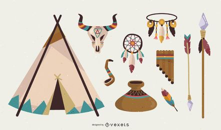 Free American Native Indian Vector pack
