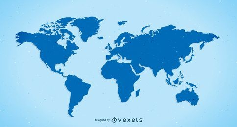 Kostenlose Vector Plain World Map
