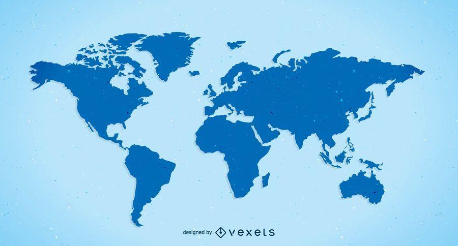 Mapa do mundo simples de vetor livre