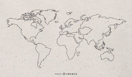 Free World Continental Vector Map