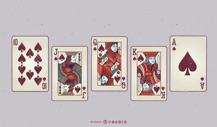 Jogo de baralho de cartas Vector grátis