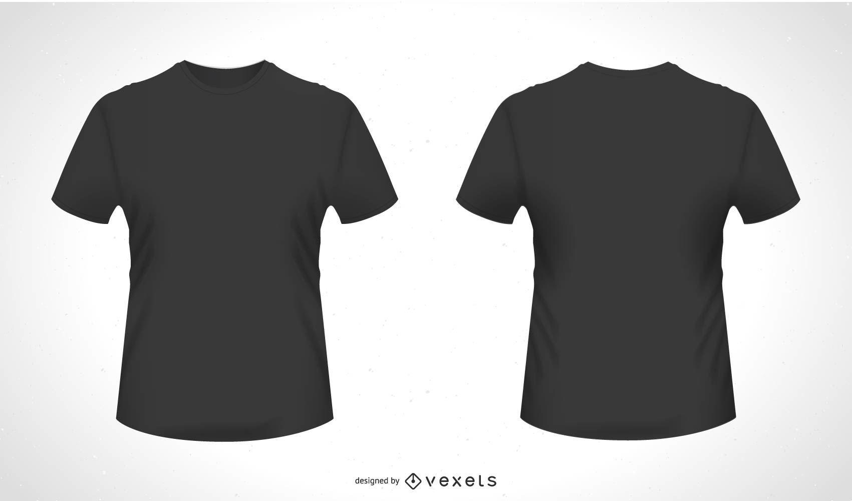 Frente Verso Camiseta Vector