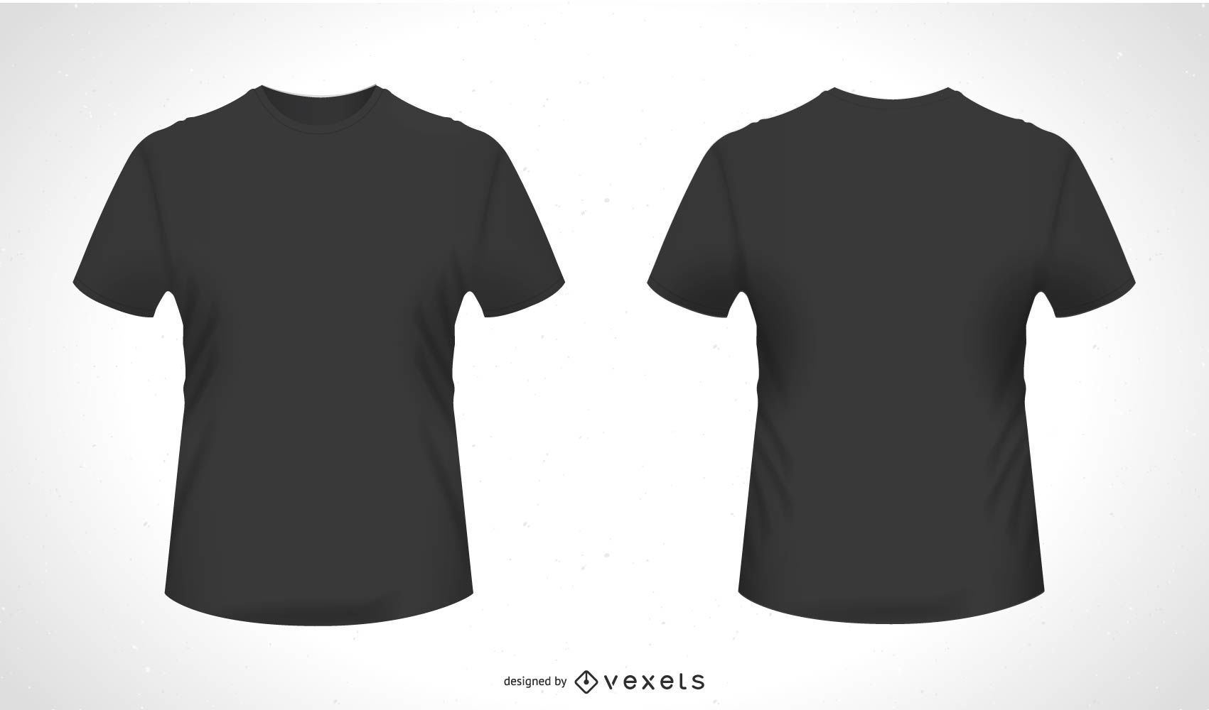 front back t-shirt vector