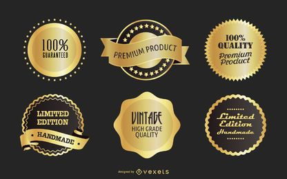 Free Vector Golden Badges