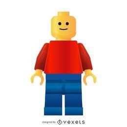 Vetor de homem lego