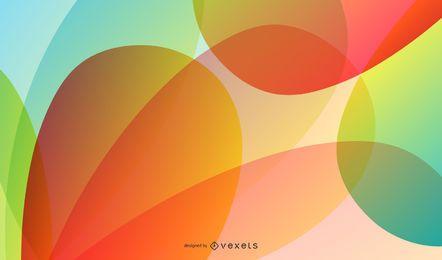 Resumen de vectores de fondo colorido