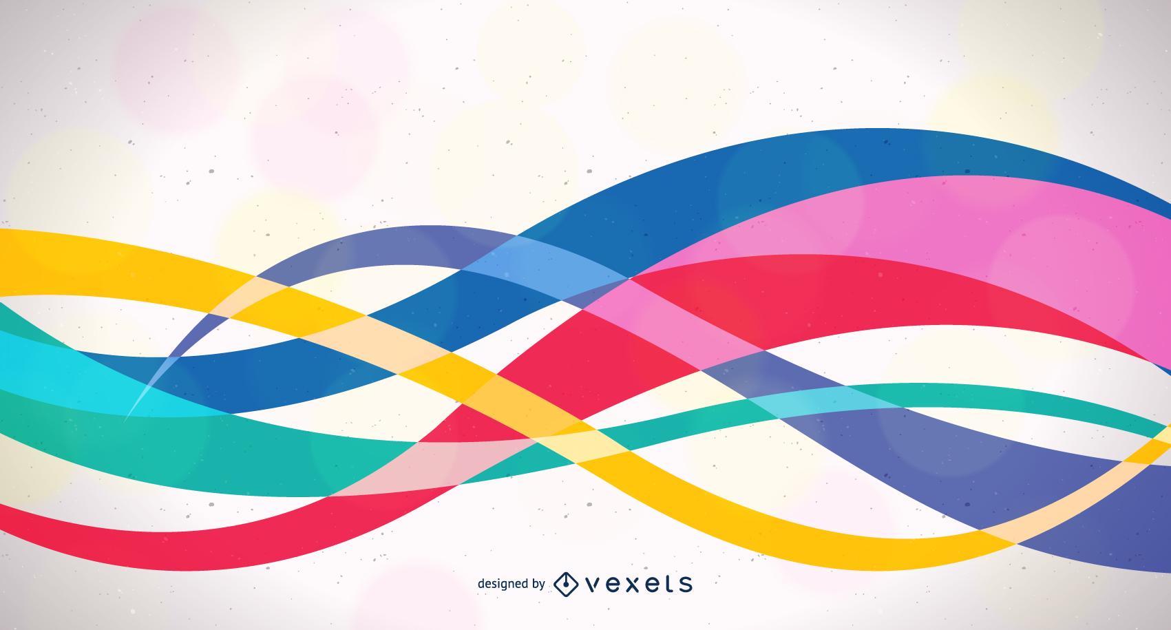 Vector de fondo colorido diseño ondulado abstracto