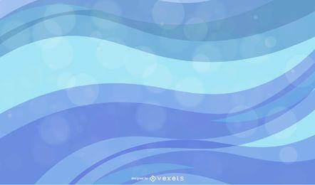 Color olas diseño abstracto vector gráfico