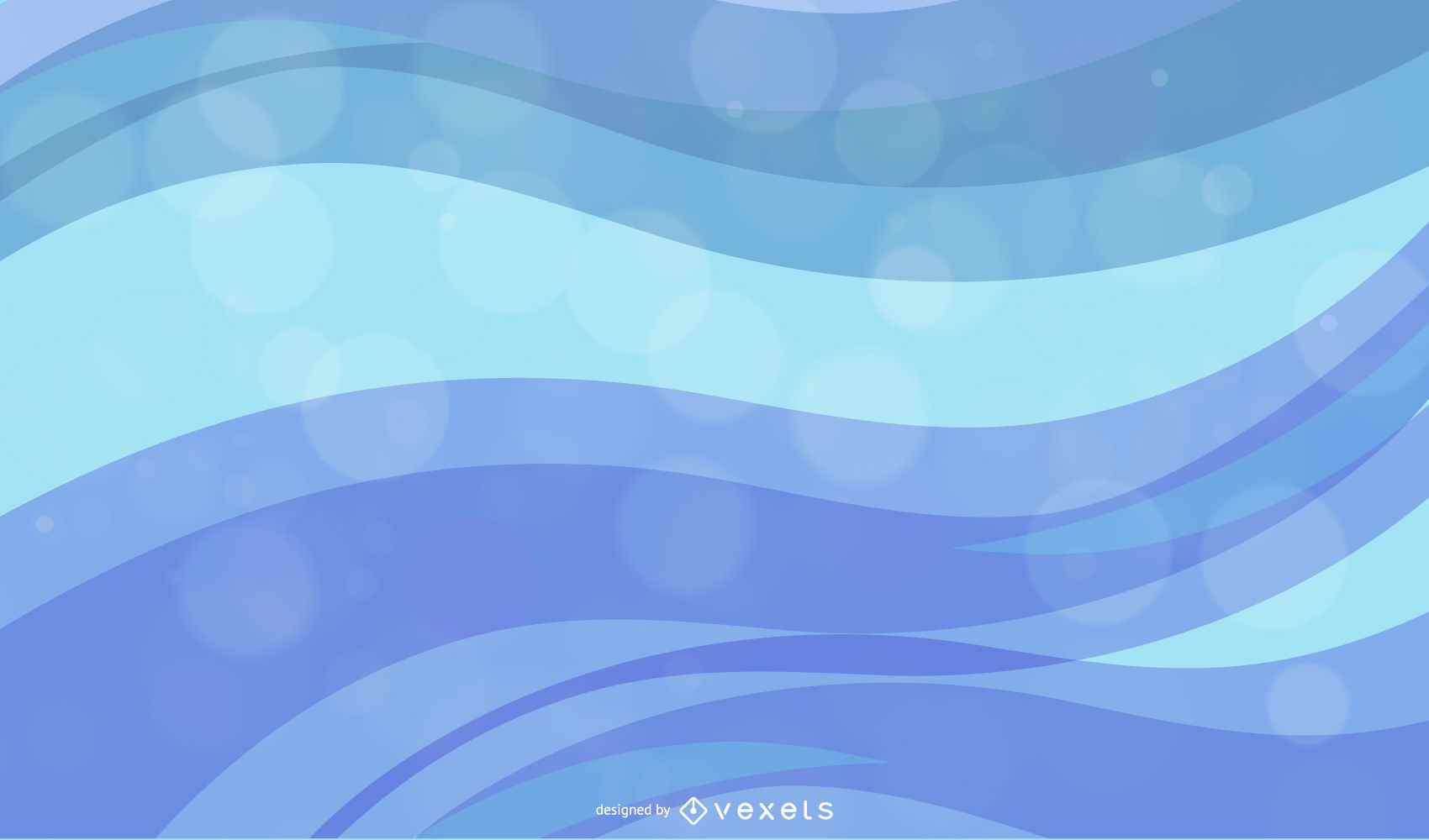 Color Waves Design Abstract Vector Graphic