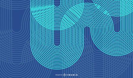 Abstrakter blauer Geschäfts-Technologie-Wellen-Vektor-Hintergrund