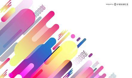 Vector abstracto diseño colorido fondo gráfico