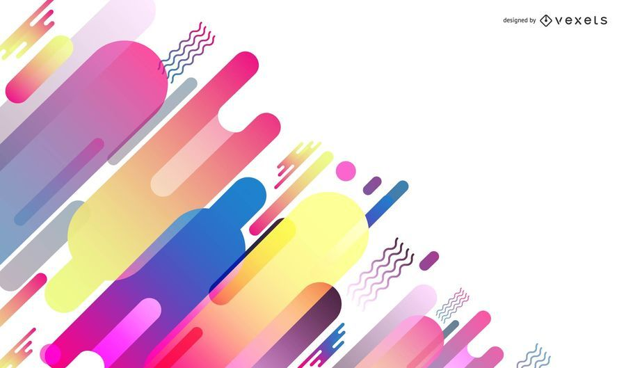 Vector Abstract Design Colorful Background Graphic