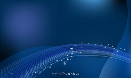 Projeto de cenário de ondas azuis e brilhantes