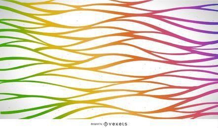 Línea de onda colorida abstracta fondo vector