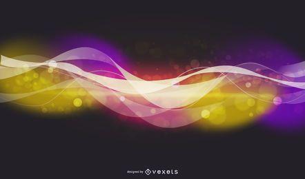 Resumen luz brillante con fondo de estrellas Vector