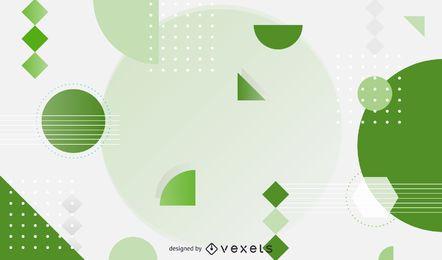 Vetor de fundo abstrato Design verde