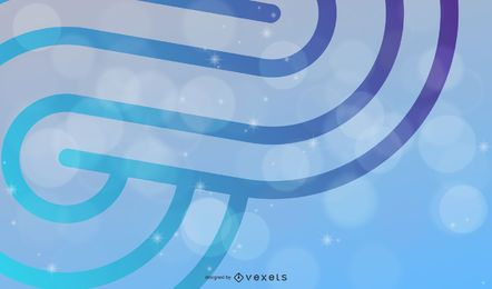 Abstract curves Background Vector Illustration