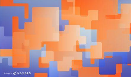 Fundo azul e laranja