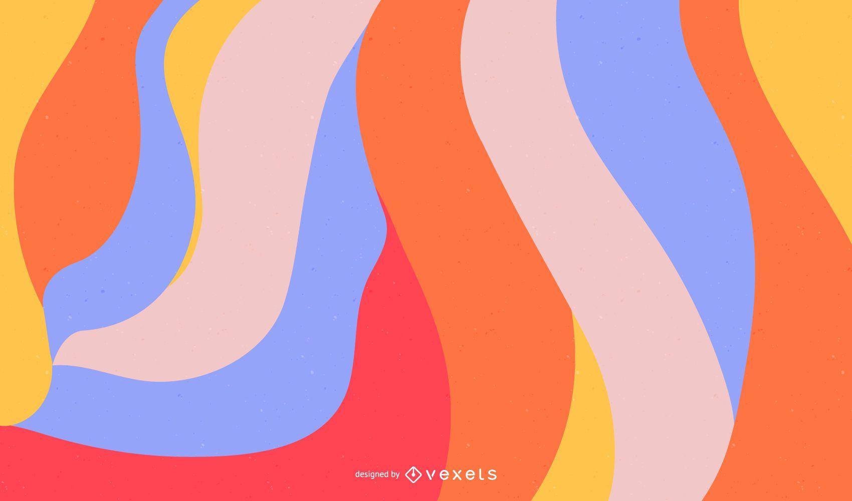 Vector de fondo de diseño de color abstracto gratis