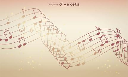 Fondo de música abstracta ilustración vectorial