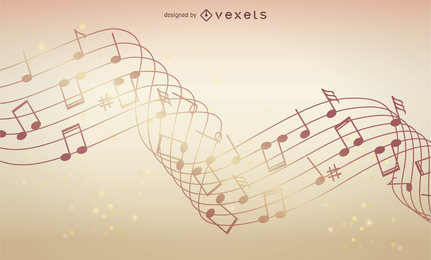 Ilustração em vetor de fundo musical abstrato