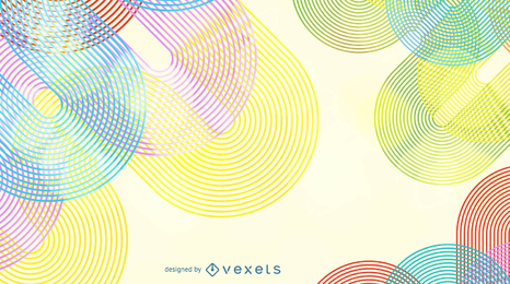 Fondo de Vector de línea de onda de arco iris abstracto