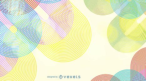Fundo abstrato do vetor da linha da onda do arco-íris