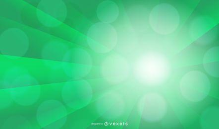 Diseño de fondo de luz verde Ray Bokeh