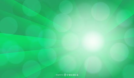 Green Light Burst Abstract Background