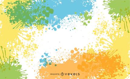 Abstrakte Tinten-Spritzen-Hintergrund-Vektor-Grafik