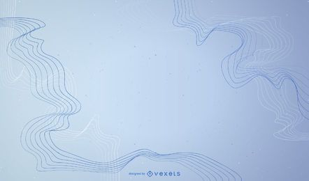 Abstract background with lines in blue