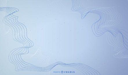 Abstrakter Hintergrund mit Zeilen im Blau